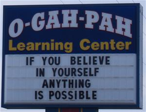 O Gah Pah Learning Center Sign