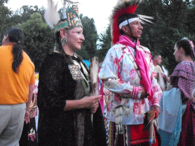 Dancers enter area for grand entry on July 2, 2010